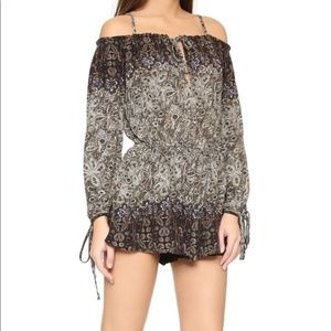 Free People So Divine Off the Shoulder Romper